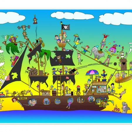 Bordsunderlägg - Pirat