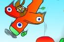 Katt som hoppar fallskärm