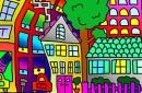 I Färjestad finns allt. Hus, bilar, staket, en affär. You name it..